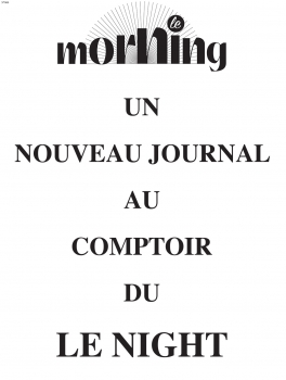 Le Morning - N°00 - 21 juin 2015 -p1